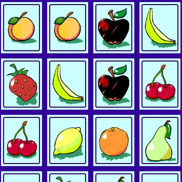 เกมส์ จับคู่ภาพ ผลไม้